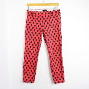 J Crew Minnie orange paisley pants print ankle